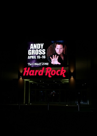 Andy Gross at the Hard Rock Casino