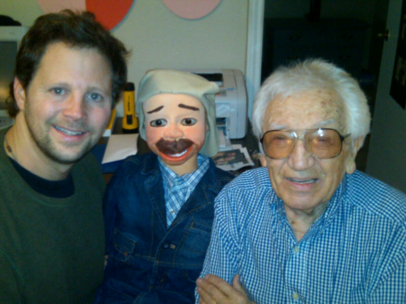 Andy Gross with legendary ventriloquist Peter Rich