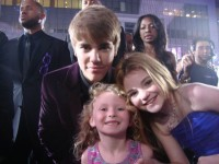 Justin Bieber with actress Morgan Lily and her sister Riley Jane