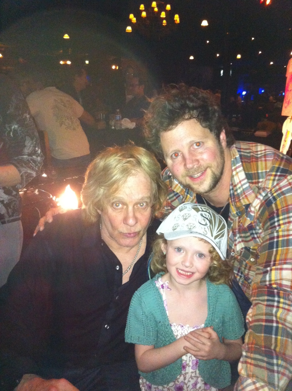 Magician Andy Gross daughter Riley Jane and Eddie Money