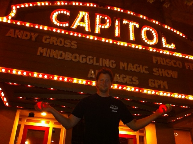 Andy Gross at the historic Cox Capital Theatre in Macon, GA.