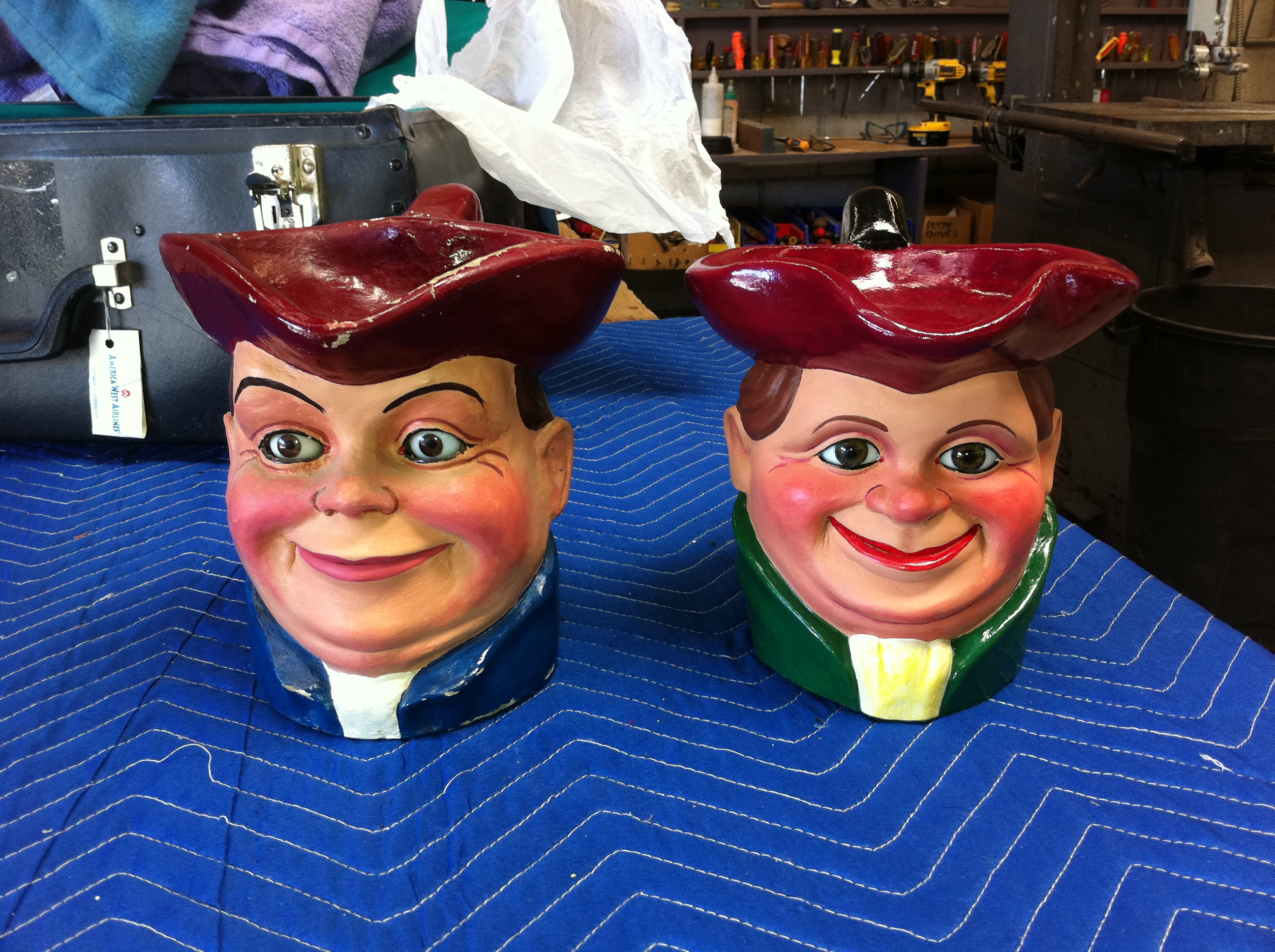 Len Insull and Geoff Felix ventriloquist toby jug
