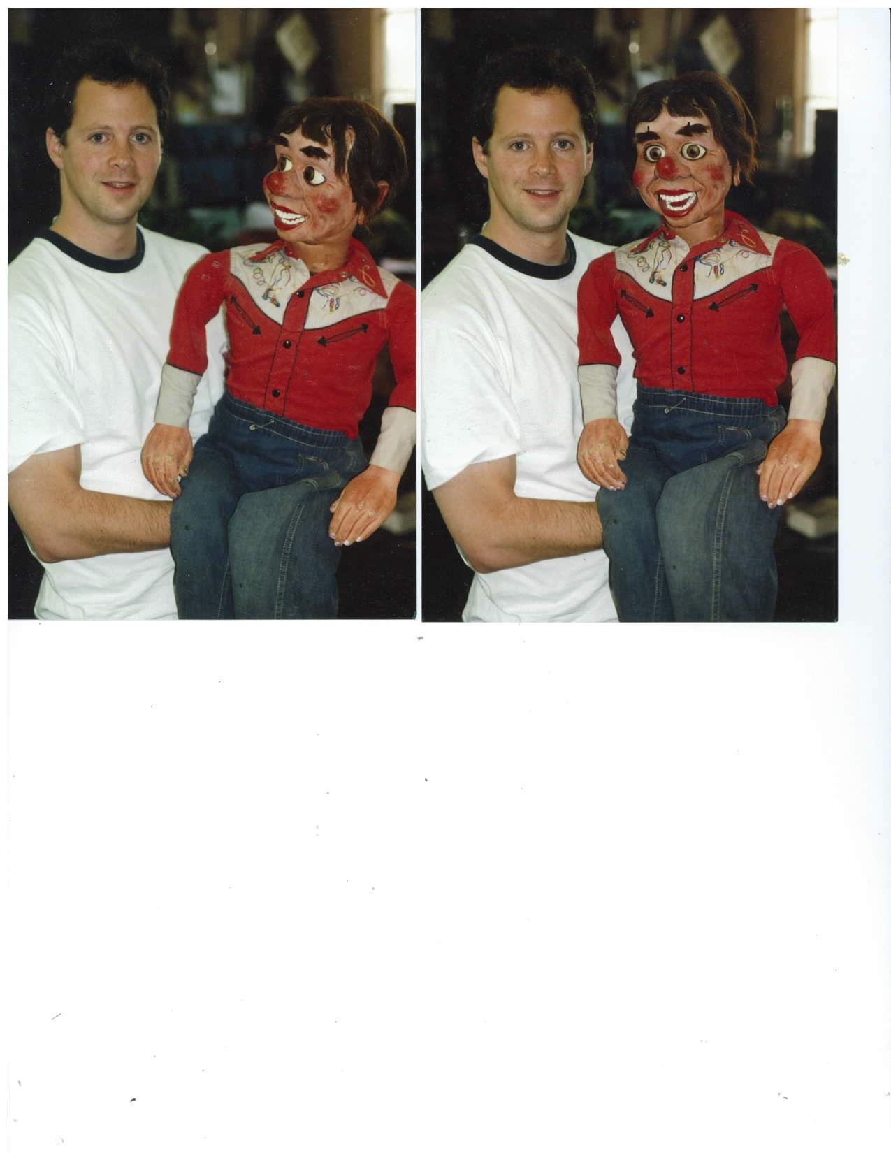 Andy Gross with another rare McElroy Ventriloquist Dummy
