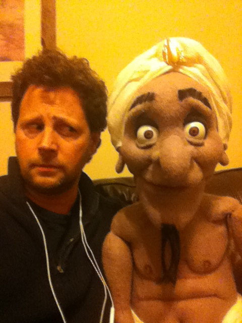 Andy Gross with Steve the customer service guy...