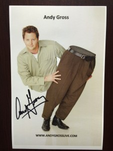 Andy Gross signed photo