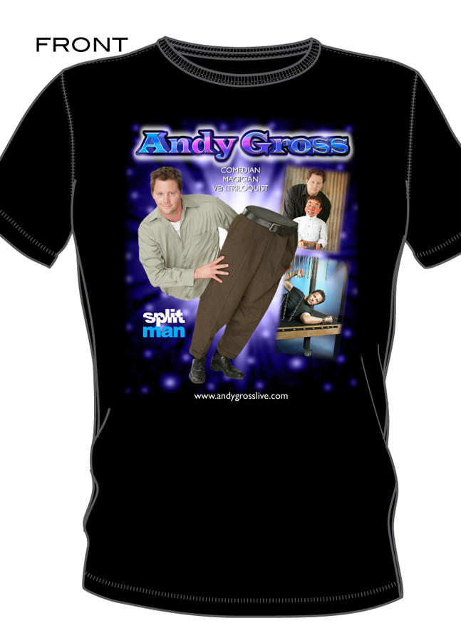 andy gross t shirt front