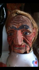 Frank Marshall Wood Carved Ventriloquist Marionette head
